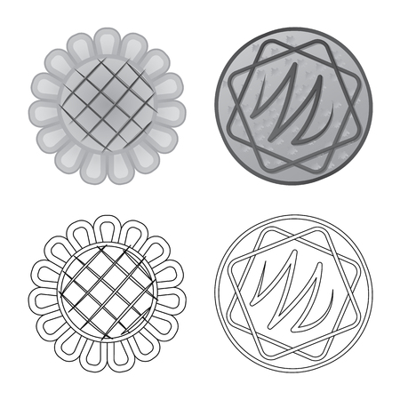Vector illustration of biscuit and bake icon. Collection of biscuit and chocolate vector icon for stock.