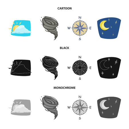 Isolated object of weather and climate logo. Collection of weather and cloud vector icon for stock. Ilustração