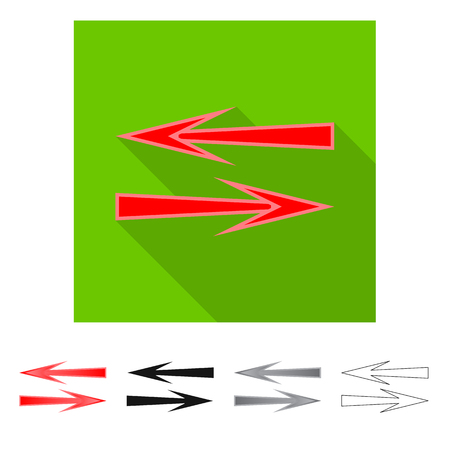 Isolated object of element and arrow icon. Set of element and direction vector icon for stock. Stock Illustratie