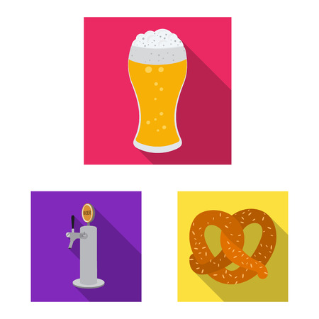 Vector illustration of pub and bar logo. Set of pub and interior stock symbol for web.
