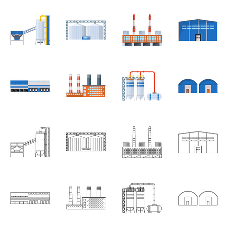 Vector design of production and structure symbol. Set of production and technology vector icon for stock.