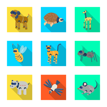 Vector design of toy and science sign. Set of toy and toy stock symbol for web.