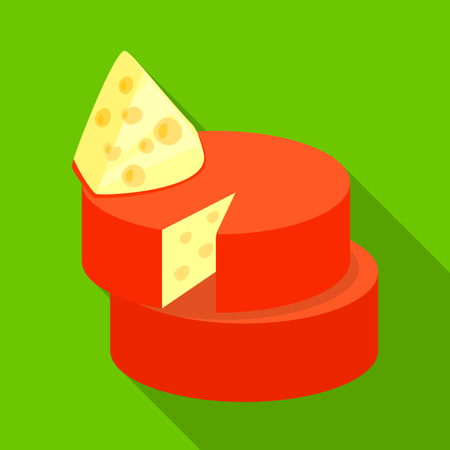 Isolated object of cheese and cheddar icon. Collection of cheese and parmesan vector icon for stock.