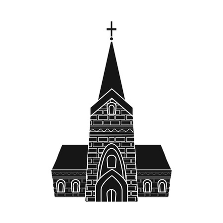 Vector illustration of church and catholic symbol. Set of church and europe stock symbol for web.