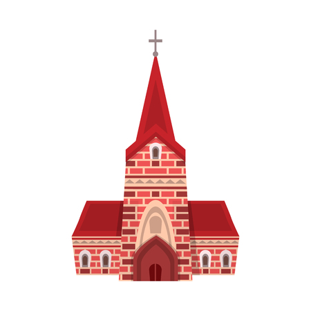 Isolated object of church and catholic logo. Set of church and europe vector icon for stock.