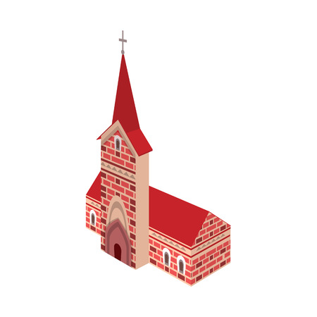Vector illustration of church and catholic icon. Set of church and construction stock vector illustration. Ilustrace