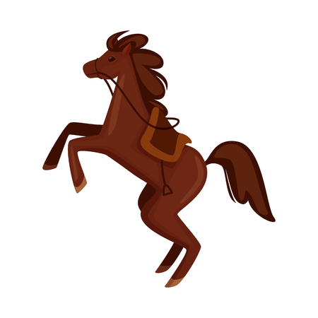 Vector illustration of horse and animal icon. Set of horse and running vector icon for stock.