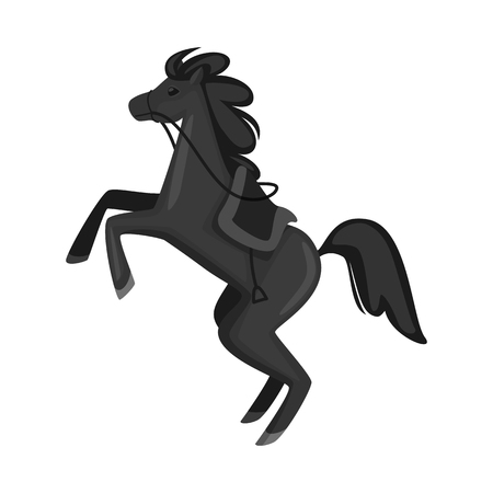 Isolated object of horse and animal sign. Collection of horse and running stock symbol for web.