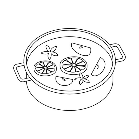 Vector design of wine and mulled symbol. Set of wine and drink stock symbol for web.