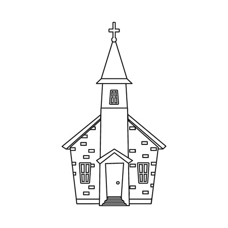 Isolated object of church and orthodox symbol. Collection of church and pray stock vector illustration.