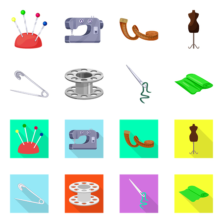 Isolated object of craft and handcraft logo. Collection of craft and industry stock vector illustration. Illustration