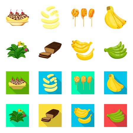 Illustration vectorielle de signe naturel et végétarien. Collection d'icônes vectorielles naturelles et alimentaires pour le stock. Vecteurs