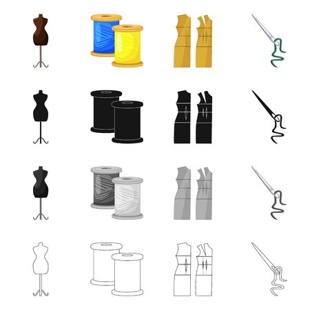 Isolated object of craft and handcraft icon. Collection of craft and industry vector icon for stock.