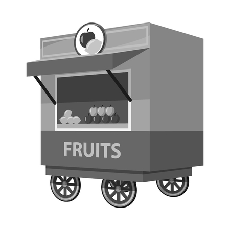 Isolated object of cart and cafe sign. Collection of cart and shop vector icon for stock.