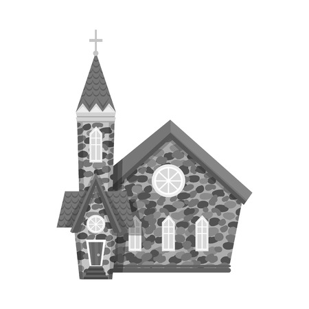 Isolated object of church and catholic symbol. Collection of church and easter vector icon for stock. Ilustração
