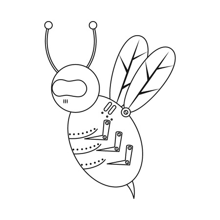 Vector design of bee and insect icon. Set of bee and steampunk stock vector illustration.