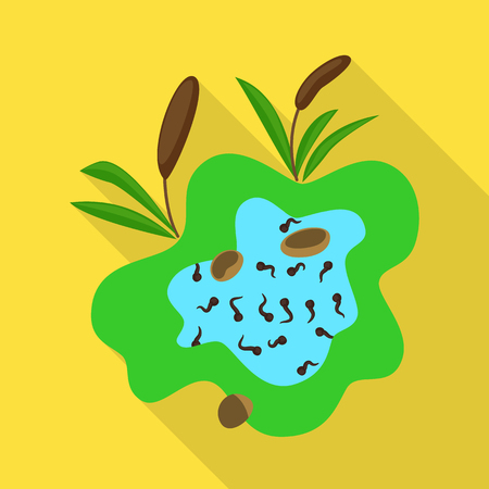 Vector illustration of swamp and environment symbol. Collection of swamp and aqua stock vector illustration. Illustration