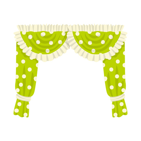 Isolated object of curtain and window logo. Set of curtain and material stock symbol for web.