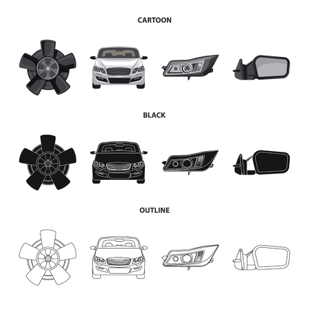 Isolated object of auto and part logo. Set of auto and car vector icon for stock. Ilustração
