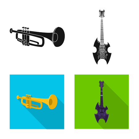 Vector illustration of music and tune sign. Set of music and tool vector icon for stock. Illusztráció