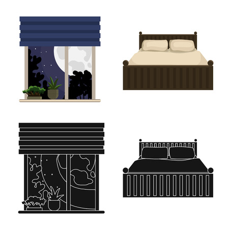 Isolated object of dreams and night symbol. Collection of dreams and bedroom stock symbol for web. Illustration