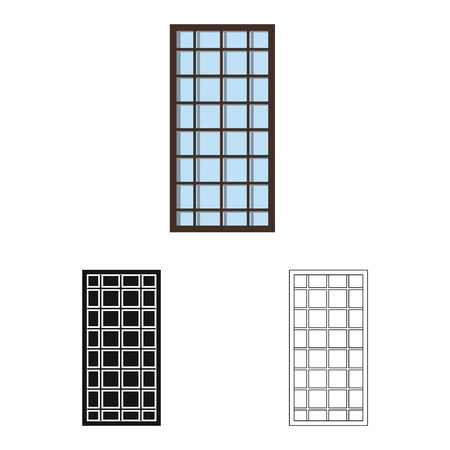 Vector illustration of door and front. Collection of door and wooden stock vector illustration.