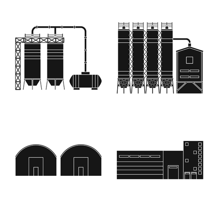 Vector illustration of architecture and technology icon. Collection of architecture and building stock vector illustration.