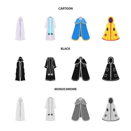 Projekt wektor ikona materiału i odzieży. Kolekcja symbolu zapasów materiałów i odzieży dla sieci web.