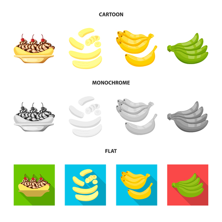 Isolated object of natural and vegetarian icon. Collection of natural and eating stock vector illustration.