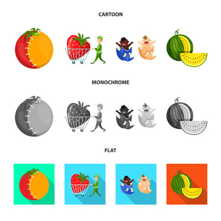 Vector illustration of test and synthetic logo. Collection of test and laboratory stock vector illustration.
