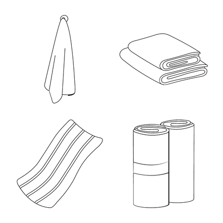 Vector illustration of fabric and hygiene sign. Set of fabric and bathroom stock vector illustration.