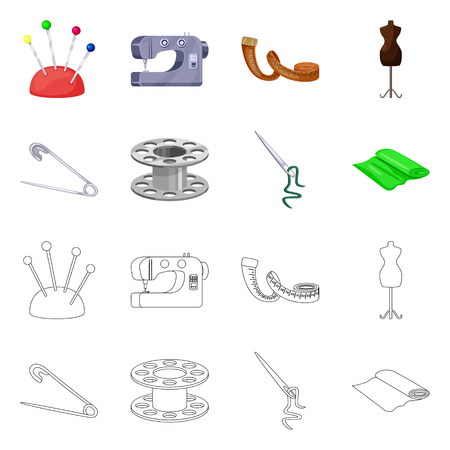 Isolated object of craft and handcraft symbol. Collection of craft and industry stock vector illustration. Illustration