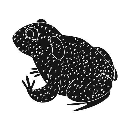 Isolated object of toad and tropical logo. Set of toad and ecology vector icon for stock. Иллюстрация