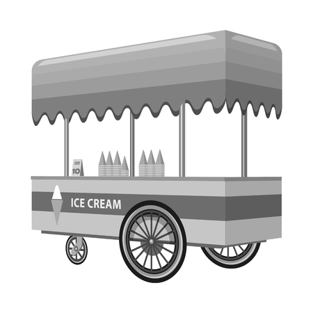 Isolated object of cart and roof symbol. Collection of cart and awning vector icon for stock. Ilustração