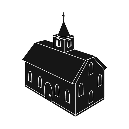 Vector illustration of church and cathedral sign. Set of church and cross vector icon for stock. Ilustracja