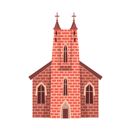 Vector design of church and catholic sign. Set of church and cathedral vector icon for stock.