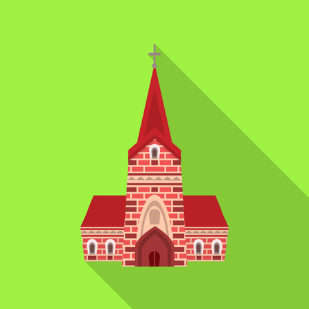 Isolated object of church and catholic symbol. Collection of church and europe vector icon for stock.