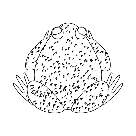 Isolated object of toad and biology logo. Set of toad and tropical vector icon for stock.