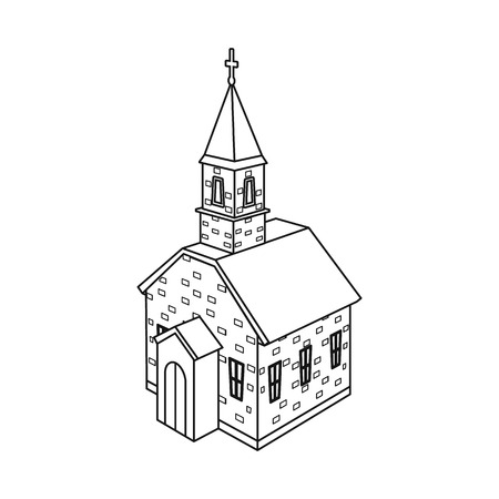 Vector design of church and orthodox symbol. Collection of church and cross vector icon for stock. Иллюстрация