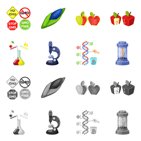Vector illustration of test and synthetic logo. Collection of test and laboratory vector icon for stock.