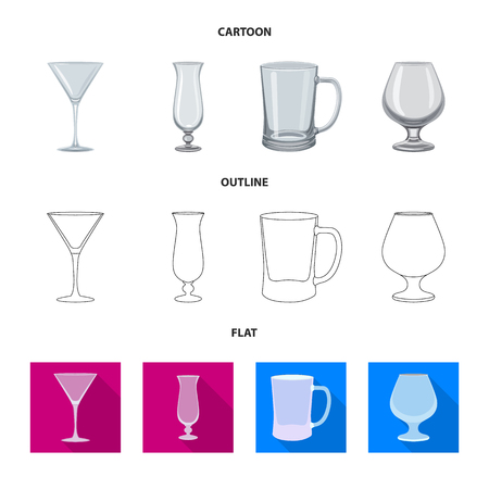 Isolated object of form and celebration logo. Collection of form and volume vector icon for stock.