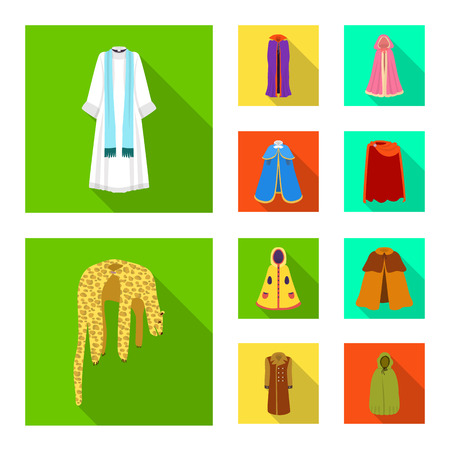 Vector design of material and clothing logo. Set of material and garment stock vector illustration. Illustration