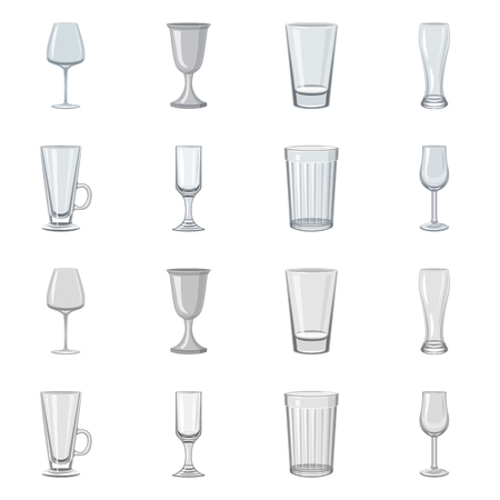 Isolated object of form and celebration sign. Collection of form and volume stock vector illustration.  イラスト・ベクター素材