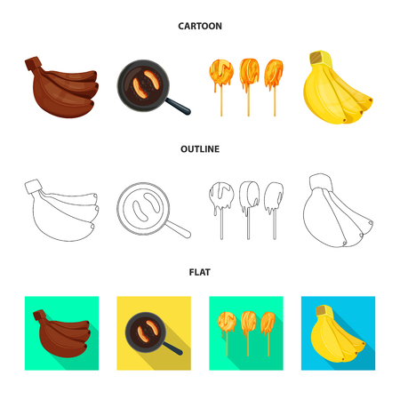 Isolated object of natural and vegetarian icon. Collection of natural and eating stock symbol for web.