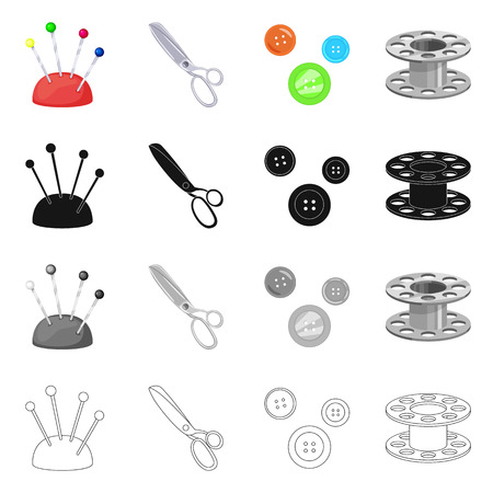 Vector illustration of craft and handcraft symbol. Set of craft and industry vector icon for stock. Illustration