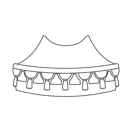 Vector design of canopy and tent icon. Collection of canopy and sun stock vector illustration.
