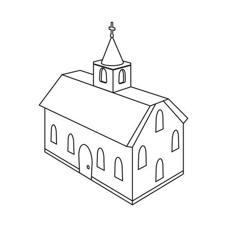 Vector illustration of church and cathedral logo. Set of church and cross stock symbol for web. Archivio Fotografico - 123122565