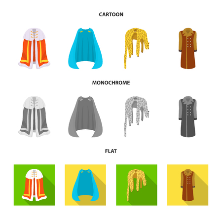 Vector illustration of material and clothing sign. Collection of material and garment vector icon for stock. Imagens - 123122580