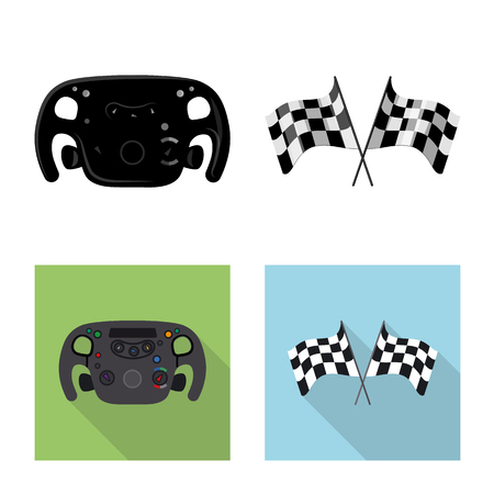 Vector design of car and rally icon. Collection of car and race stock symbol for web. 向量圖像