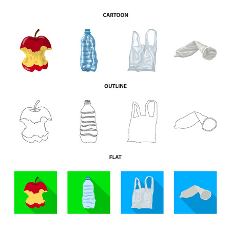 Vector illustration of dump  and sort icon. Set of dump  and junk vector icon for stock. Banque d'images - 121356332
